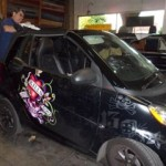 Custom Christian Audigier Smart Car convertible top