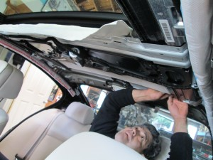 BMW 5 Series Headliner to Suede