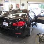 BMW 5 Series Headliner into  Cream Suede