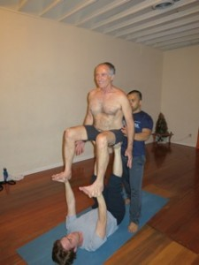 Seated Throne Acro Yoga
