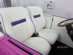 White and Purple Hod Rod Seats