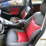 2012 Prius with Charcoal Leather and  Red Perforated Inserts