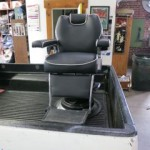 Barber Shop Reupholstery with Piping Too