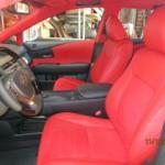 2013 Lexus RX New Red Leather Alcantera  Interior