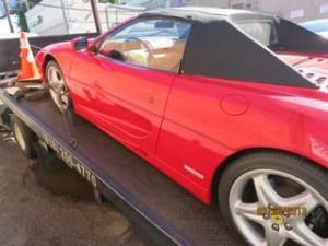 Ferrari on a Flatbed