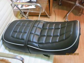 vintage honda 550 motorcycle seat custom design markel 39 s auto interiors auto upholstery in. Black Bedroom Furniture Sets. Home Design Ideas