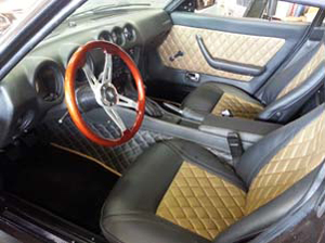 datsun 280 z paradise markel 39 s auto interiors auto upholstery in los angeles convertible. Black Bedroom Furniture Sets. Home Design Ideas