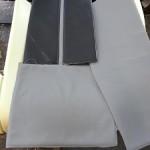 BMW 540i custom leather seats bmw grey and black inserts