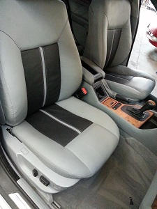 BMW 540i custom leather seats bmw grey and black inserts