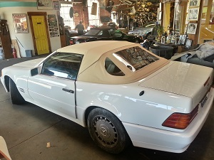 Mercedes Benz SL 500 new convertible top