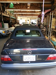 Mercedes Benz E320 German Canvas top